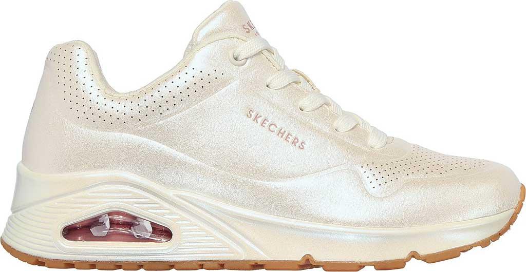 Women's Skechers Uno Pearl Queen Sneaker, White, large, image 2