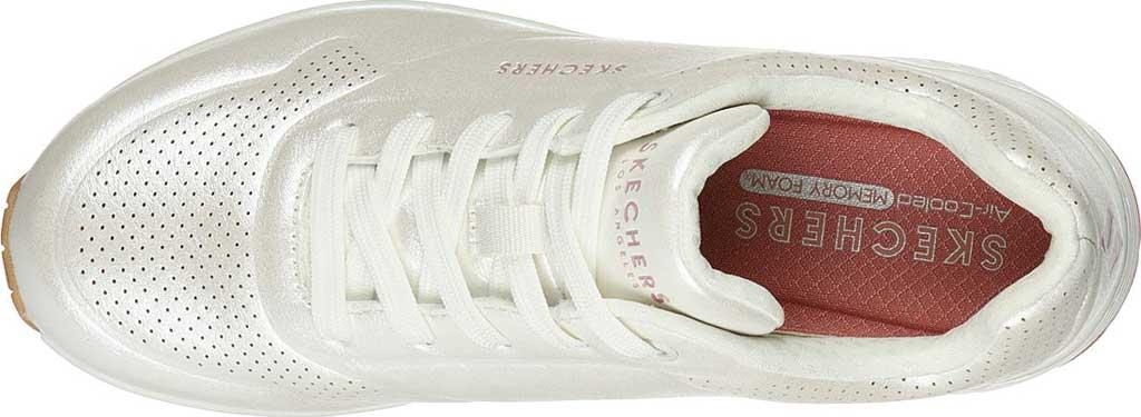 Women's Skechers Uno Pearl Queen Sneaker, White, large, image 4