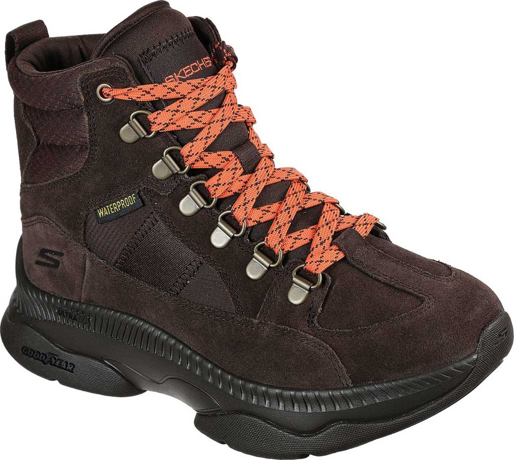 Women's Skechers On the GO Tempo Mountain Peak Trail Sneaker, Chocolate, large, image 1
