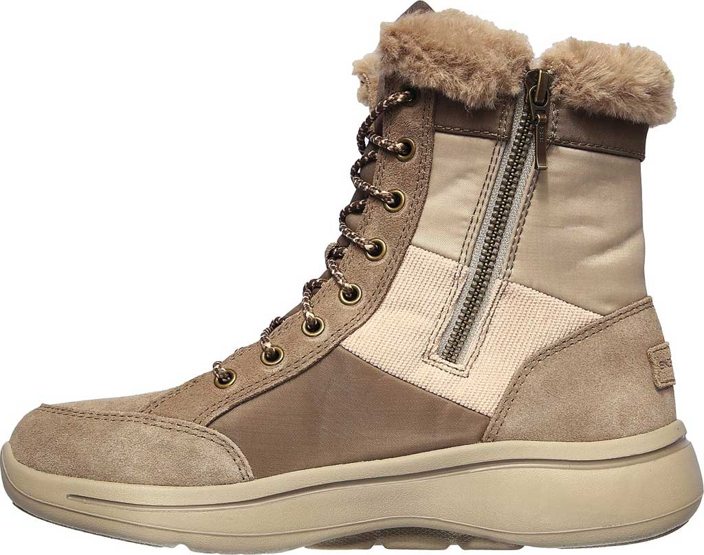 Women's Skechers GOwalk Arch Fit Conquer Bootie, Dark Taupe, large, image 3