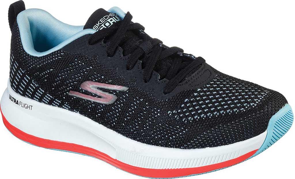 Women's Skechers GOrun Pulse Ultimate Best Running Sneaker, Black/Light Blue, large, image 1