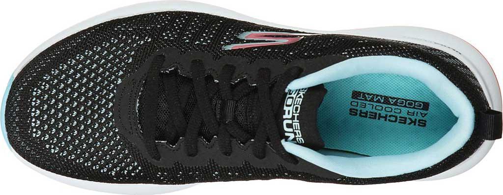 Women's Skechers GOrun Pulse Ultimate Best Running Sneaker, Black/Light Blue, large, image 4