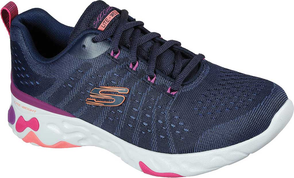 Women's Skechers Eclipse She's Breezy Sneaker, Navy/Multi, large, image 1