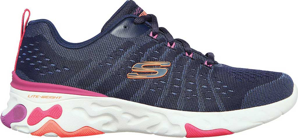 Women's Skechers Eclipse She's Breezy Sneaker, Navy/Multi, large, image 2