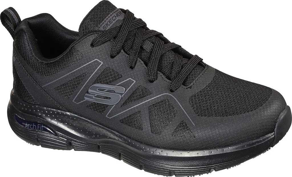Men's Skechers Work Arch Fit Slip Resistant Axtell Sneaker, Black, large, image 1