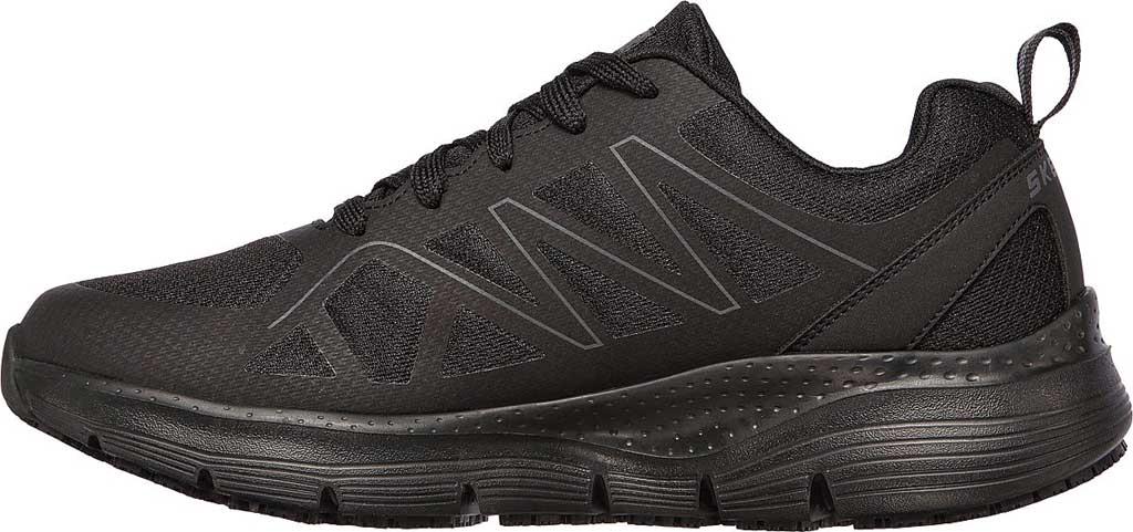 Men's Skechers Work Arch Fit Slip Resistant Axtell Sneaker, Black, large, image 3