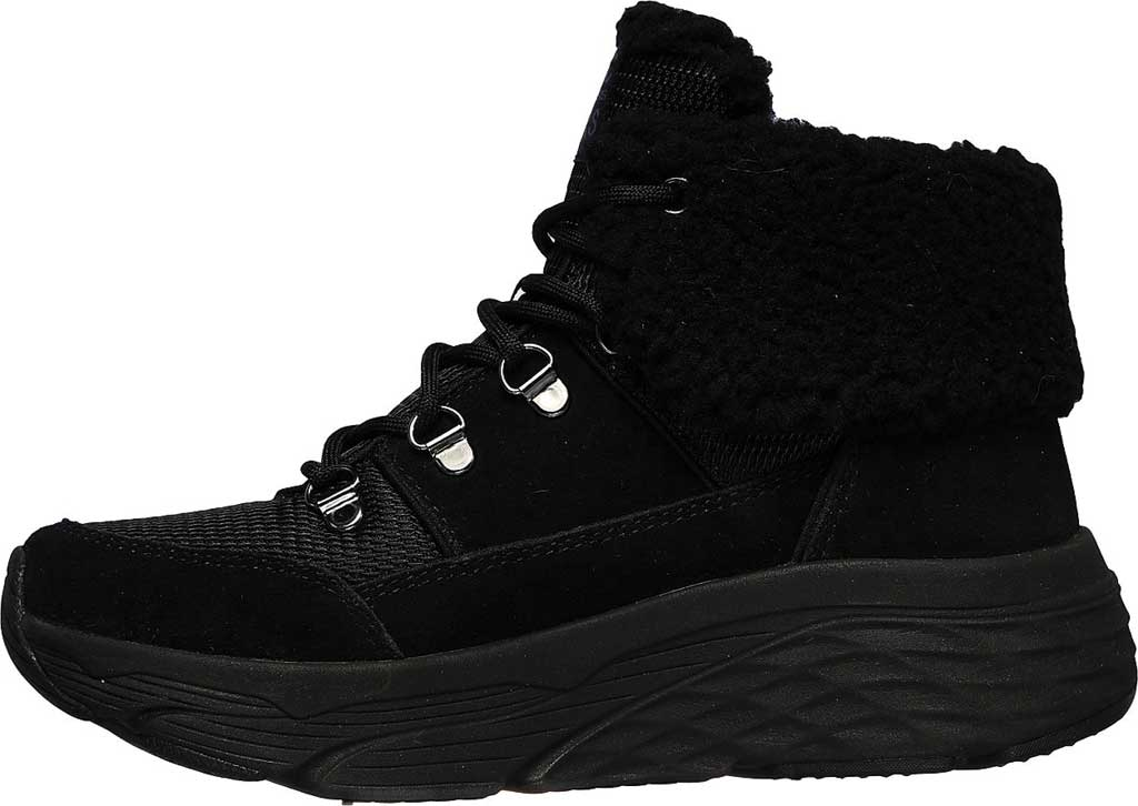 Women's Skechers Max Cushioning Pinnacle Hiking Boot, Black/Black, large, image 3