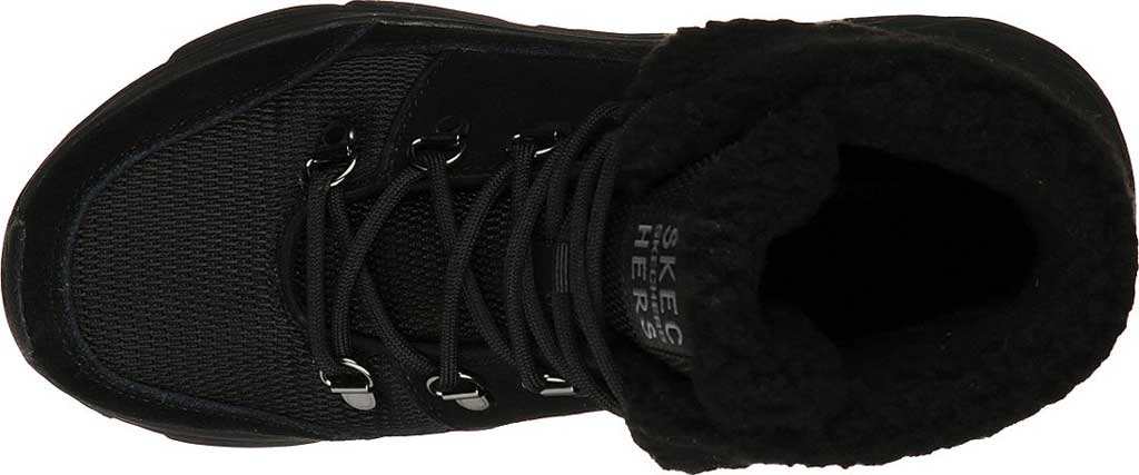 Women's Skechers Max Cushioning Pinnacle Hiking Boot, Black/Black, large, image 4