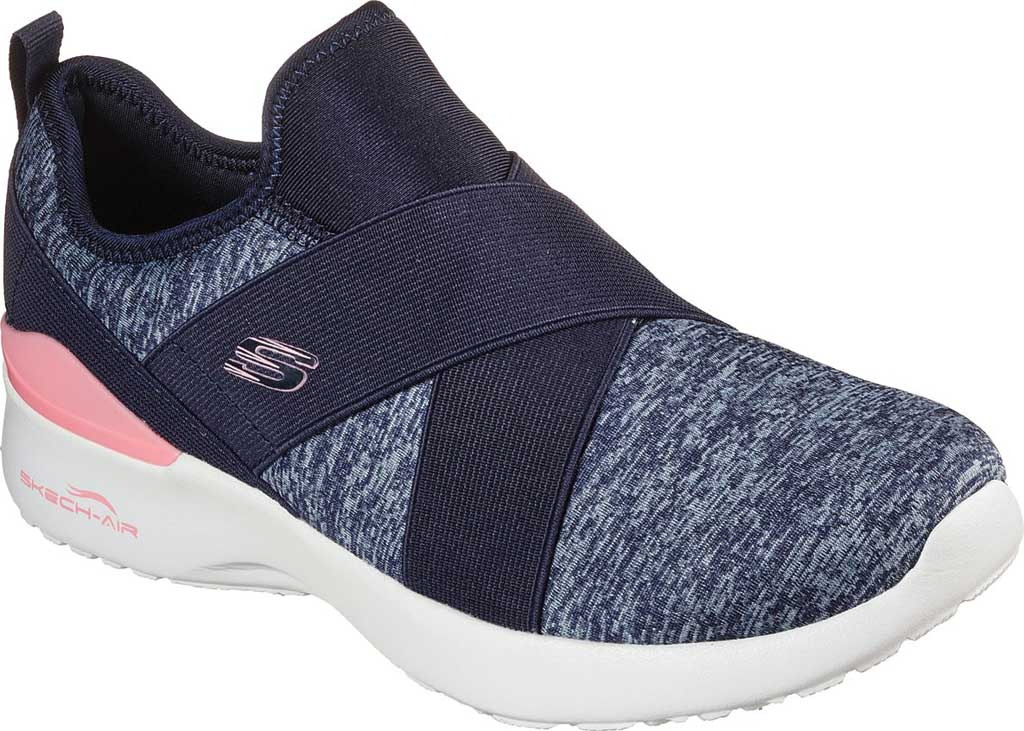 Women's Skechers Skech-Air Dynamight Big Step Trainer, Navy/Pink, large, image 1