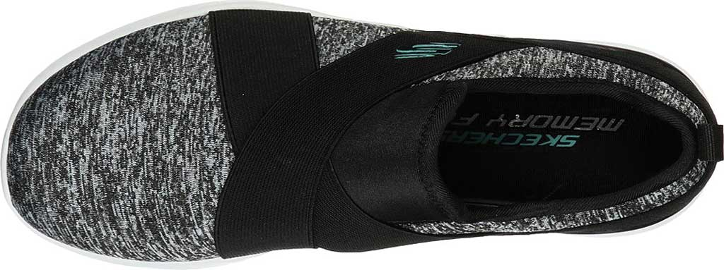 Women's Skechers Skech-Air Dynamight Big Step Trainer, Black/Turquoise, large, image 4