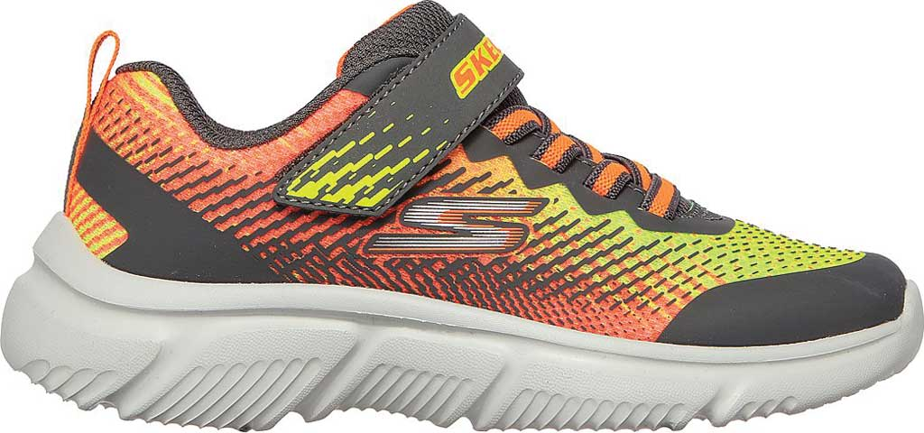 Boys' Skechers GOrun 650 Norvo Running Sneaker, Charcoal/Orange, large, image 2