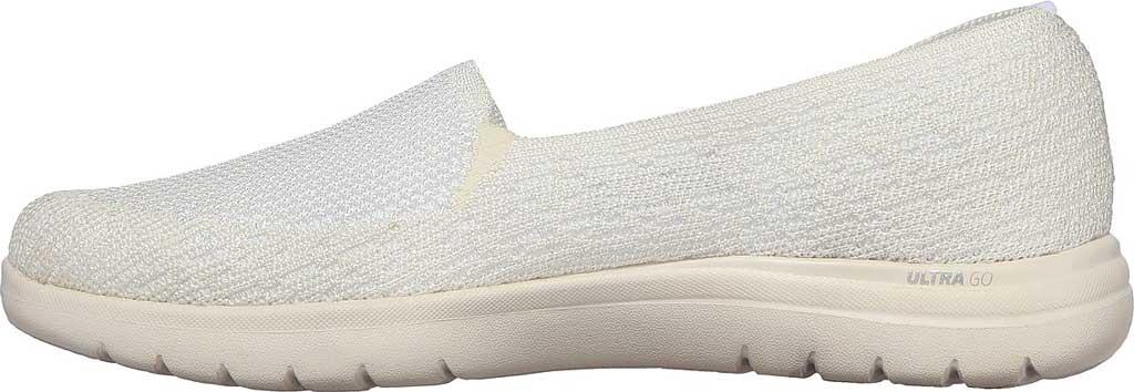 Women's Skechers On the GO Flex Beloved Slip On Sneaker, White, large, image 3