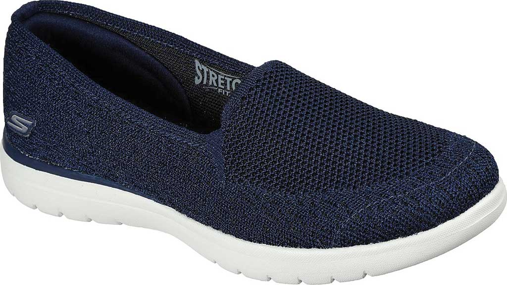 Women's Skechers On the GO Flex Beloved Slip On Sneaker, Navy/White, large, image 1