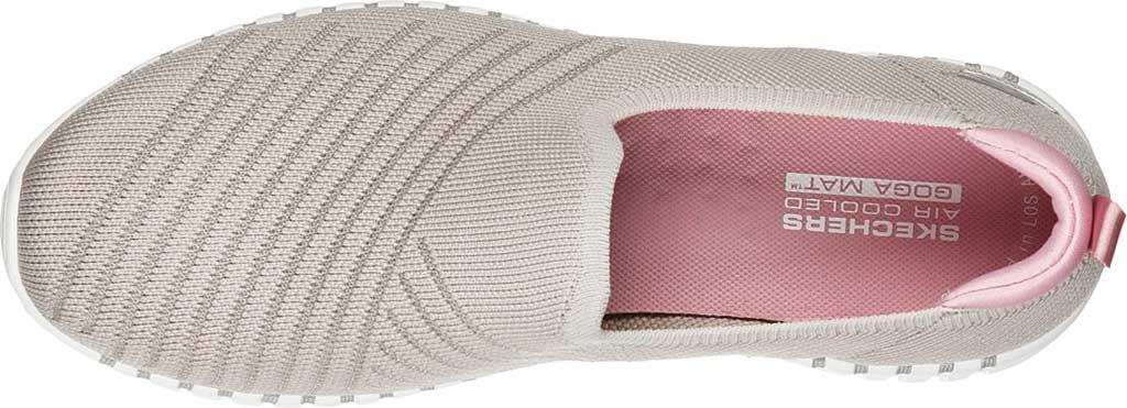 Women's Skechers GOwalk Smart Sunday Brunch Vegan Slip On Sneaker, Taupe/Pink, large, image 4