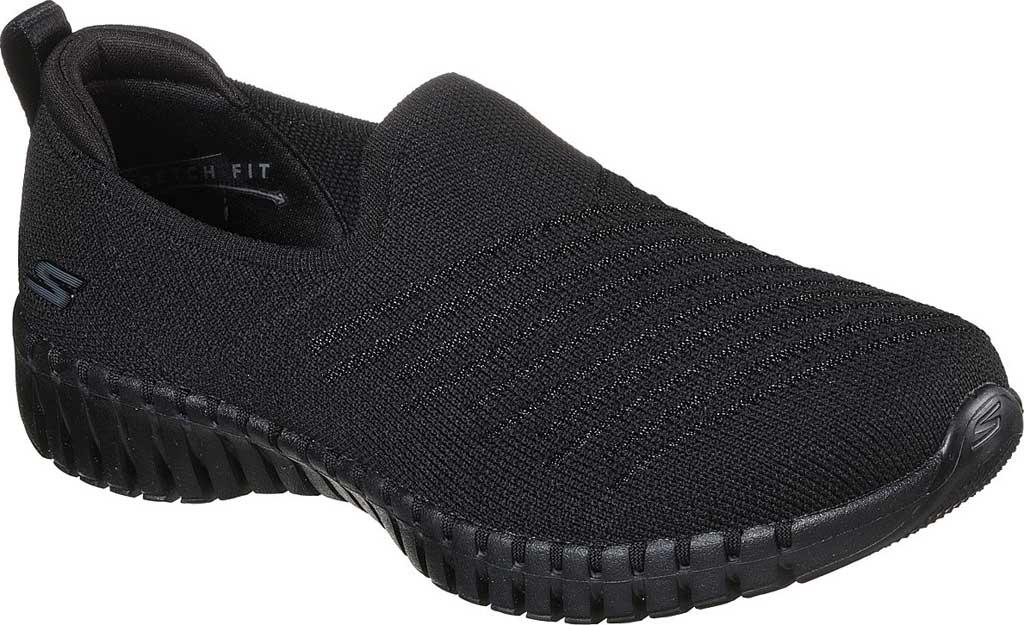 Women's Skechers GOwalk Smart Sunday Brunch Vegan Slip On Sneaker, Black/Black, large, image 1