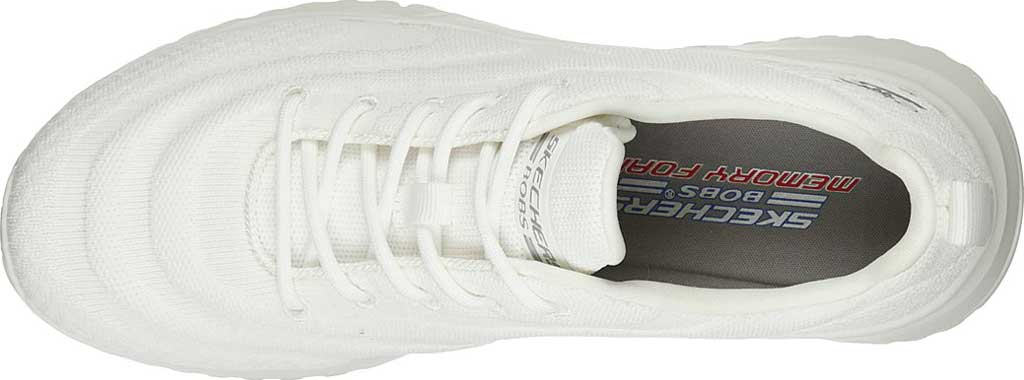Women's Skechers BOBS Squad 3 Color Swatch Vegan Sneaker, Off White, large, image 4