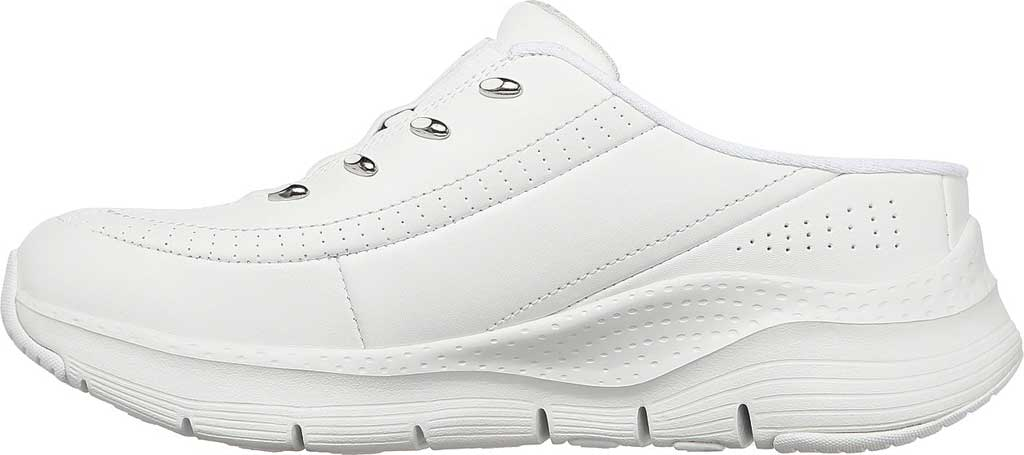 Women's Skechers Arch Fit Blessful Me Backless Sneaker, White/Silver, large, image 3
