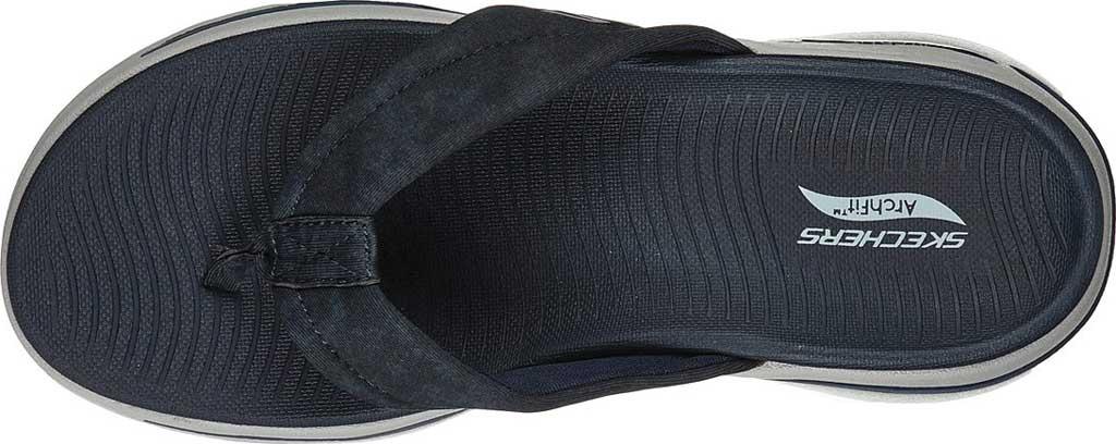 Women's Skechers GOwalk Arch Fit Astound Flip Flop, Navy/Gray, large, image 4