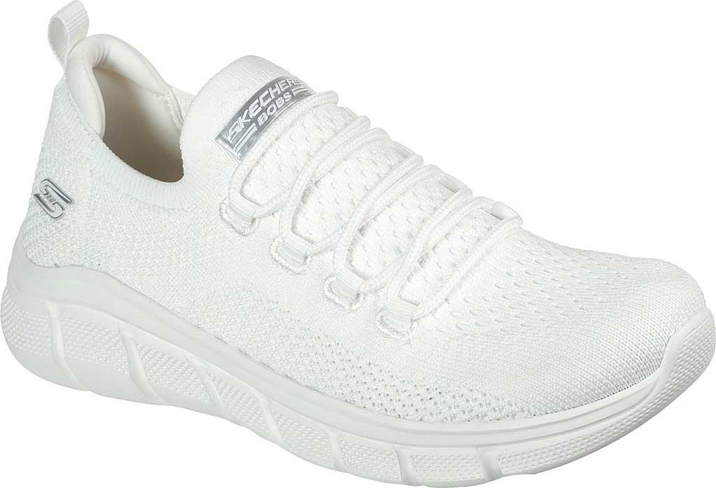 Women's Skechers BOBS Sport B Flex Color Connect Vegan Sneaker, White, large, image 1