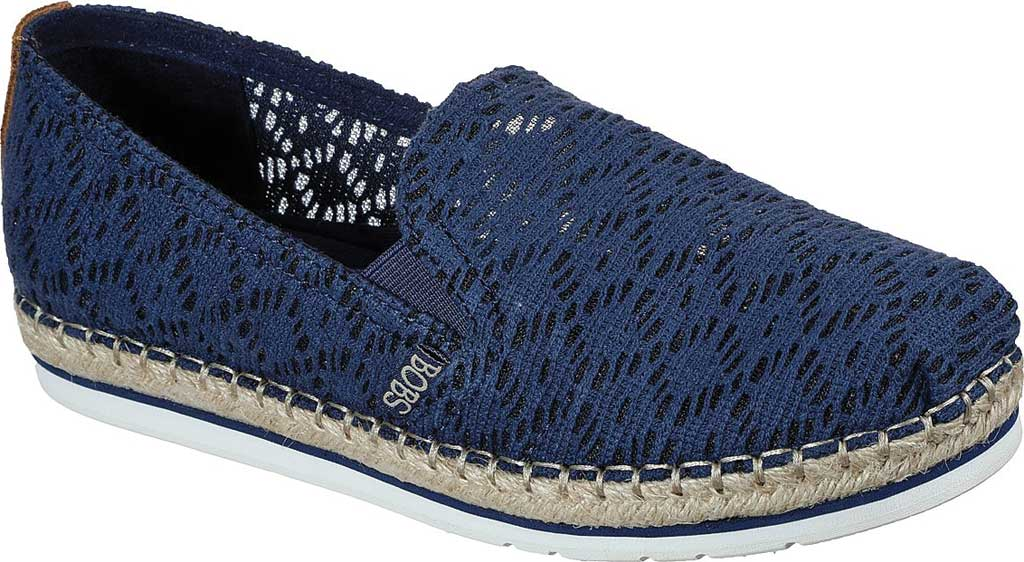 Women's Skechers BOBS Breeze Lo Misty Sky Slip On Espadrille, Navy, large, image 1