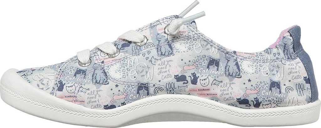 Women's Skechers BOBS Beach Bingo Amor Meow Vegan Sneaker, Gray/Multi, large, image 3