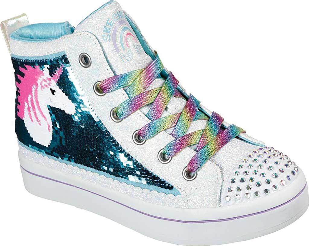 Girls' Skechers Twinkle Toes TwiLites 2.0 Unicorn Surprise Sneaker, White/Multi, large, image 1