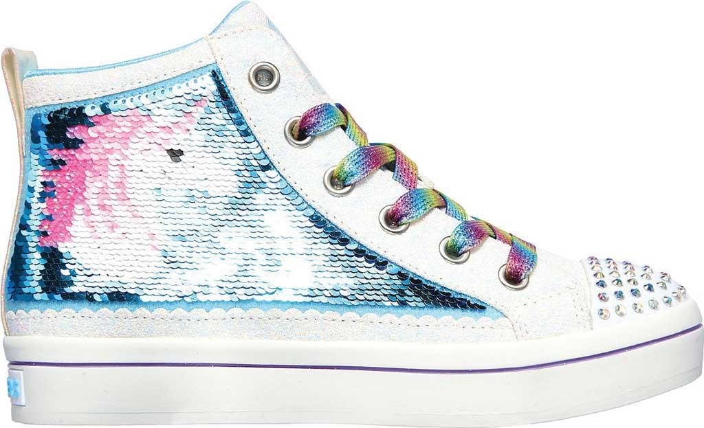Girls' Skechers Twinkle Toes TwiLites 2.0 Unicorn Surprise Sneaker, White/Multi, large, image 2