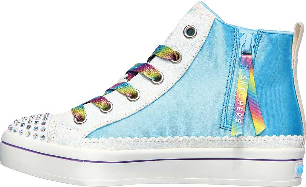 Girls' Skechers Twinkle Toes TwiLites 2.0 Unicorn Surprise Sneaker, White/Multi, large, image 3