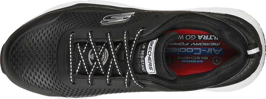 Men's Skechers Work Max Cushioning Elite SR Indurite Alloy Toe, Black/White, large, image 4