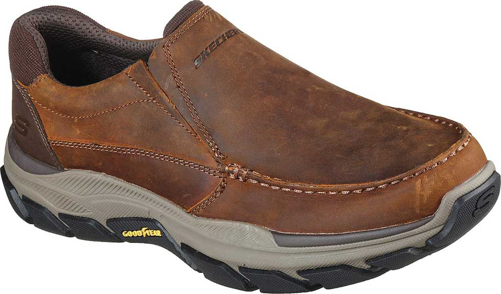 Men's Skechers Relaxed Fit Respected Catel Slip On Loafer, Chocolate Dark Brown, large, image 1
