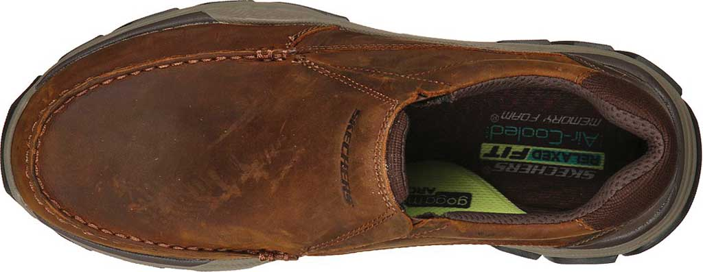 Men's Skechers Relaxed Fit Respected Catel Slip On Loafer, Chocolate Dark Brown, large, image 4