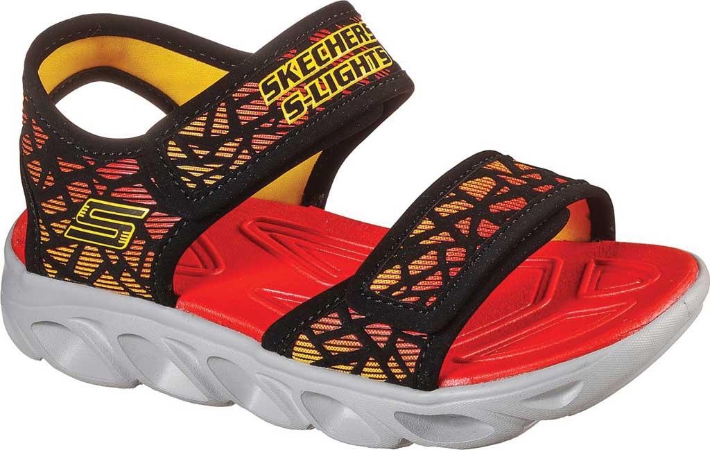 Boys' Skechers S Lights HypnoSplash Sun Sonic Active Sandal, Black/Red, large, image 1