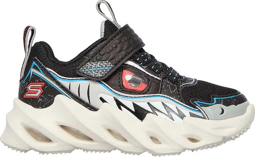 Infant Boys' Skechers SharkBots Surf Patrol Platform Sneaker, Black/White, large, image 2