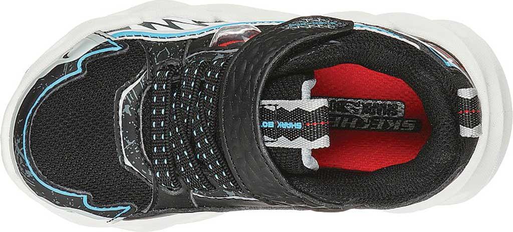 Infant Boys' Skechers SharkBots Surf Patrol Platform Sneaker, Black/White, large, image 4
