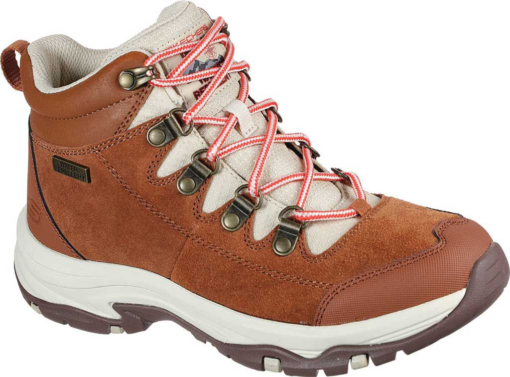 Women's Skechers Relaxed Fit Trego El Capitan Hiking Boot, Cognac, large, image 1