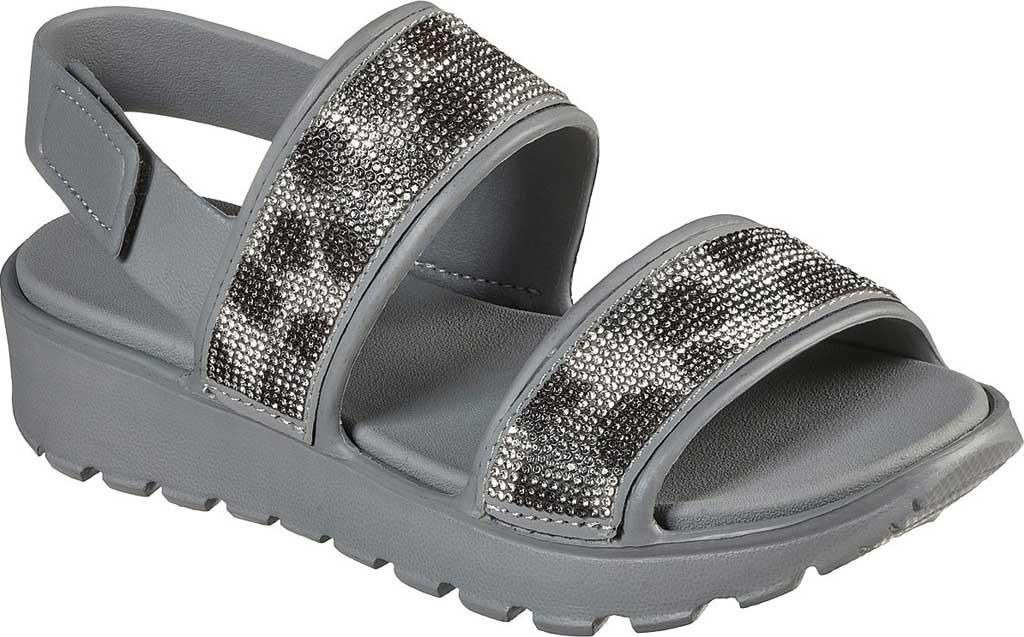Women's Skechers Foamies Footsteps Slingback Sandal, Gray, large, image 1