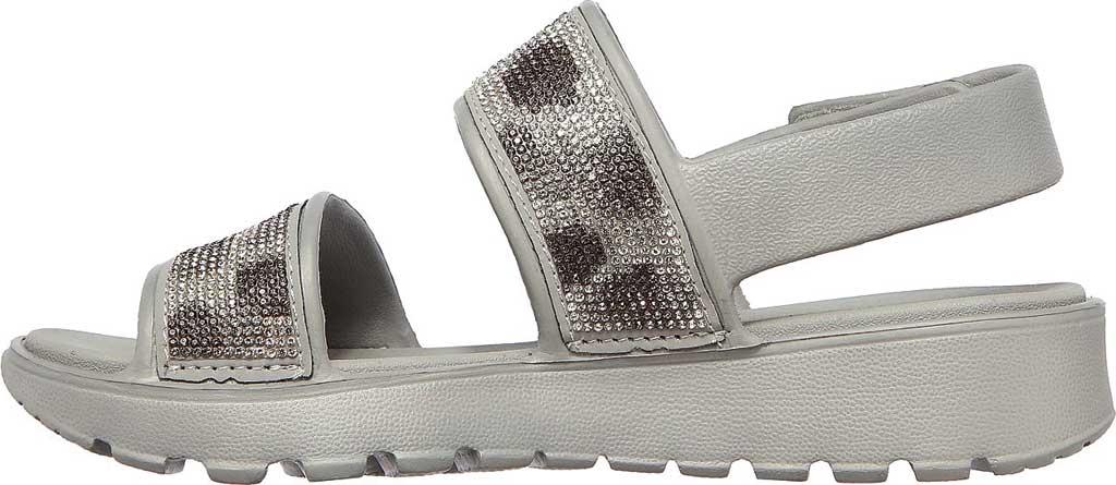 Women's Skechers Foamies Footsteps Slingback Sandal, Gray, large, image 3