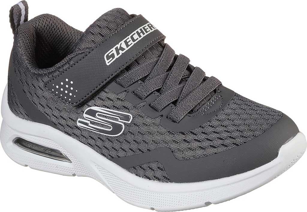 Boys' Skechers Microspec Max Torvix Sneaker, Charcoal, large, image 1