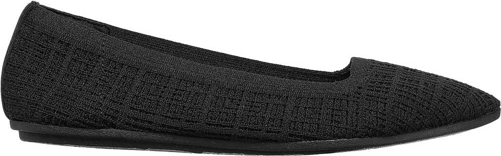Women's Skechers Cleo Point Vegan Ballet Flat, Black, large, image 2