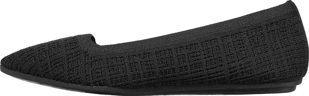 Women's Skechers Cleo Point Vegan Ballet Flat, Black, large, image 3