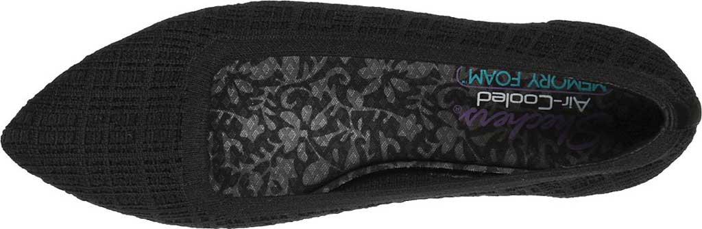 Women's Skechers Cleo Point Vegan Ballet Flat, Black, large, image 4