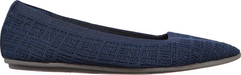 Women's Skechers Cleo Point Vegan Ballet Flat, Navy, large, image 2
