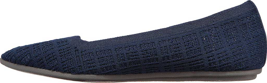 Women's Skechers Cleo Point Vegan Ballet Flat, Navy, large, image 3