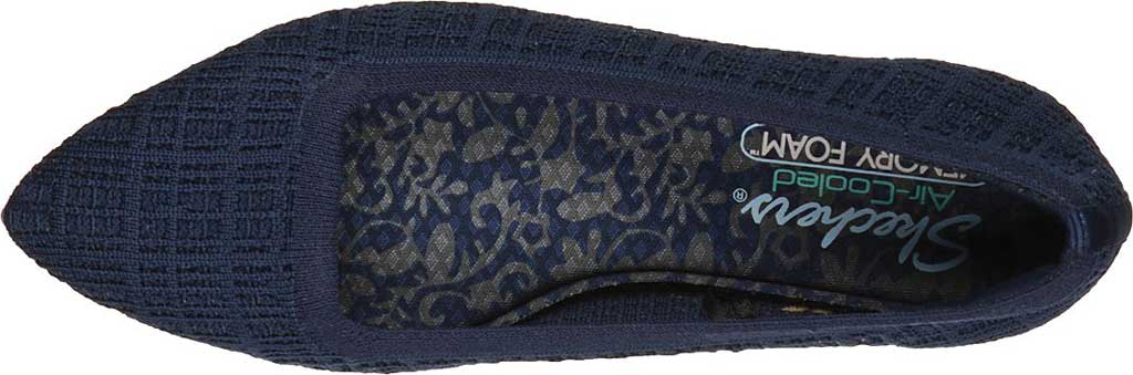 Women's Skechers Cleo Point Vegan Ballet Flat, Navy, large, image 4