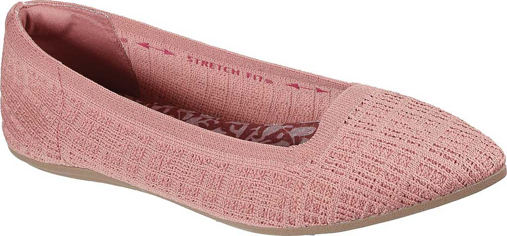 Women's Skechers Cleo Point Vegan Ballet Flat, Rose, large, image 1