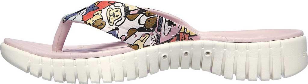 Women's Skechers Foamies GOwalk Smart Fur-Get-It Flip Flop, Lavender/Multi, large, image 3