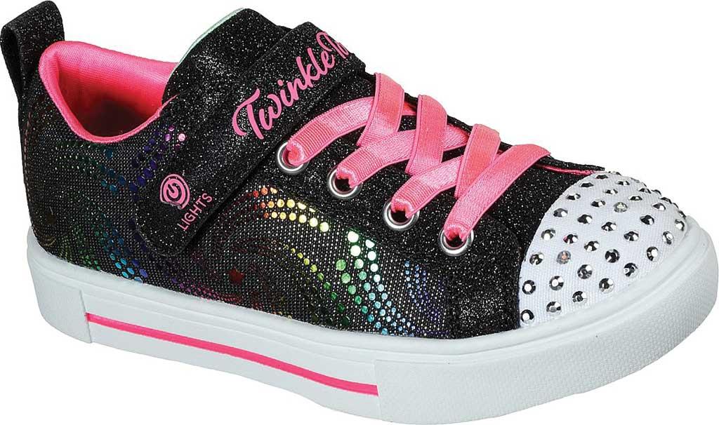 Girls' Skechers Twinkle Toes Twinkle Sparks Sneaker, Black/Multi, large, image 1