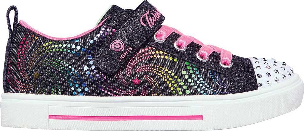 Girls' Skechers Twinkle Toes Twinkle Sparks Sneaker, Black/Multi, large, image 2