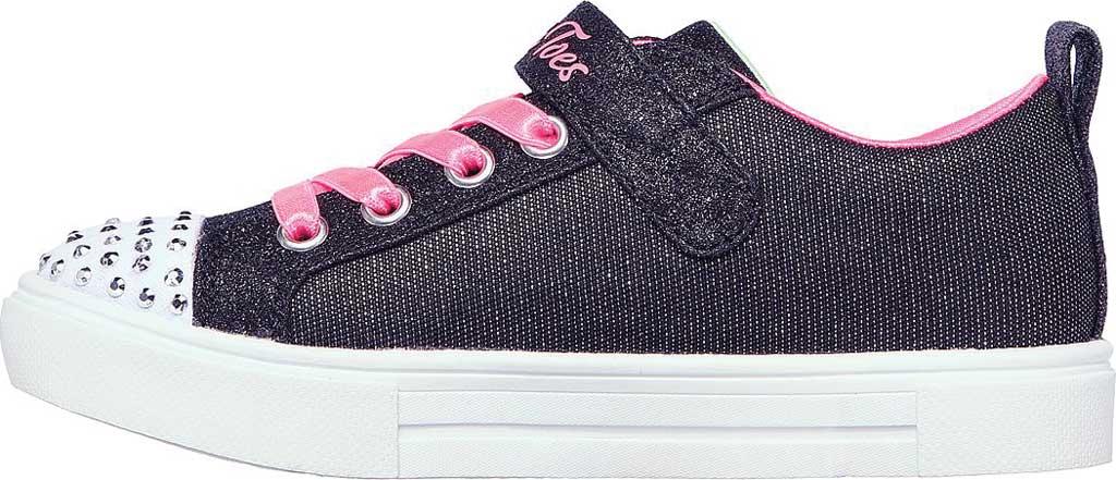 Girls' Skechers Twinkle Toes Twinkle Sparks Sneaker, Black/Multi, large, image 3