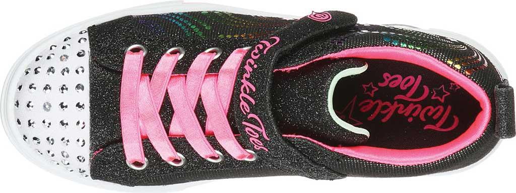 Girls' Skechers Twinkle Toes Twinkle Sparks Sneaker, Black/Multi, large, image 4